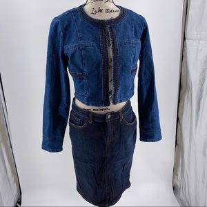 Garnet Hill Skirts - 🆕🆙Garnet Hill Denim Skirt